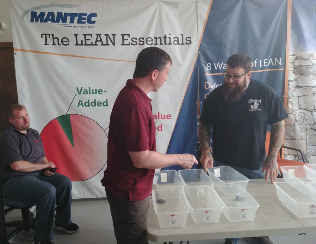 3 Men Going over Lean Essentials